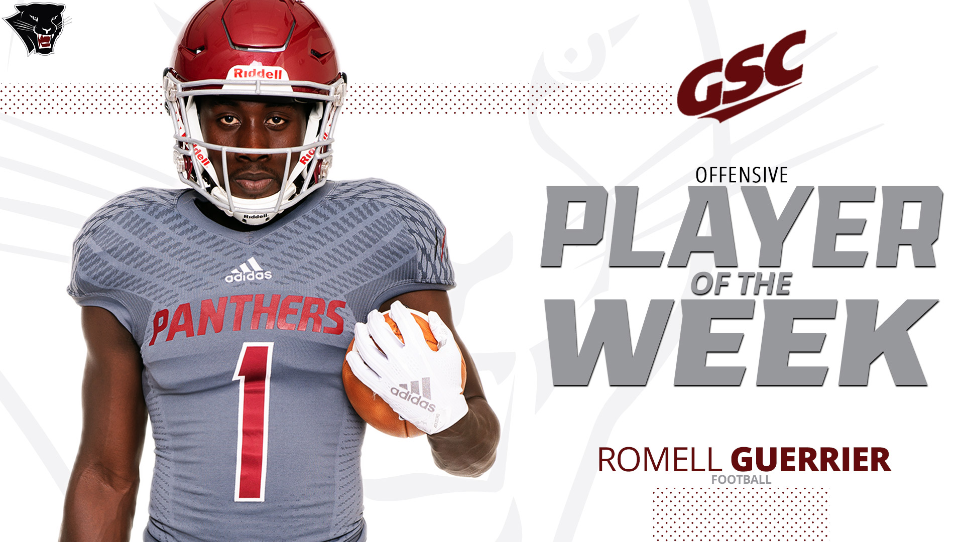 sports shoes fd267 ed498 Guerrier Named GSC Offensive Player of the Week - Florida ...