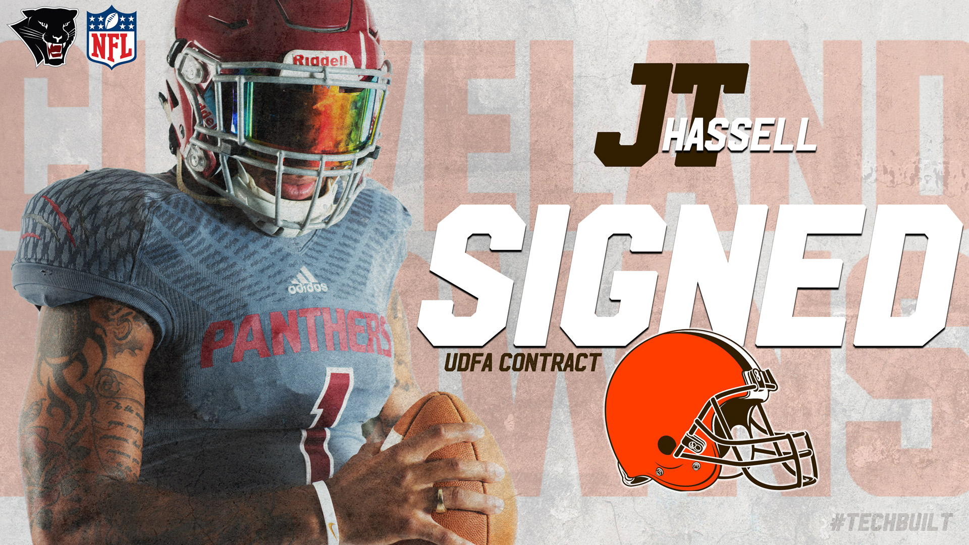 J T Hassell Signs With Cleveland Browns Florida Tech Panthers